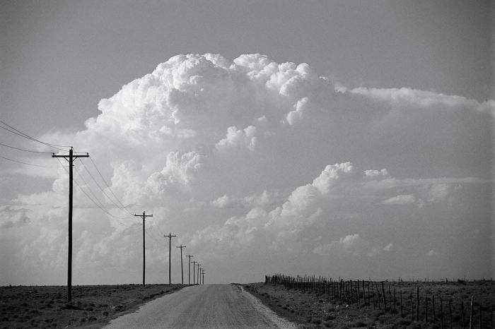 Wide Open Space with poles